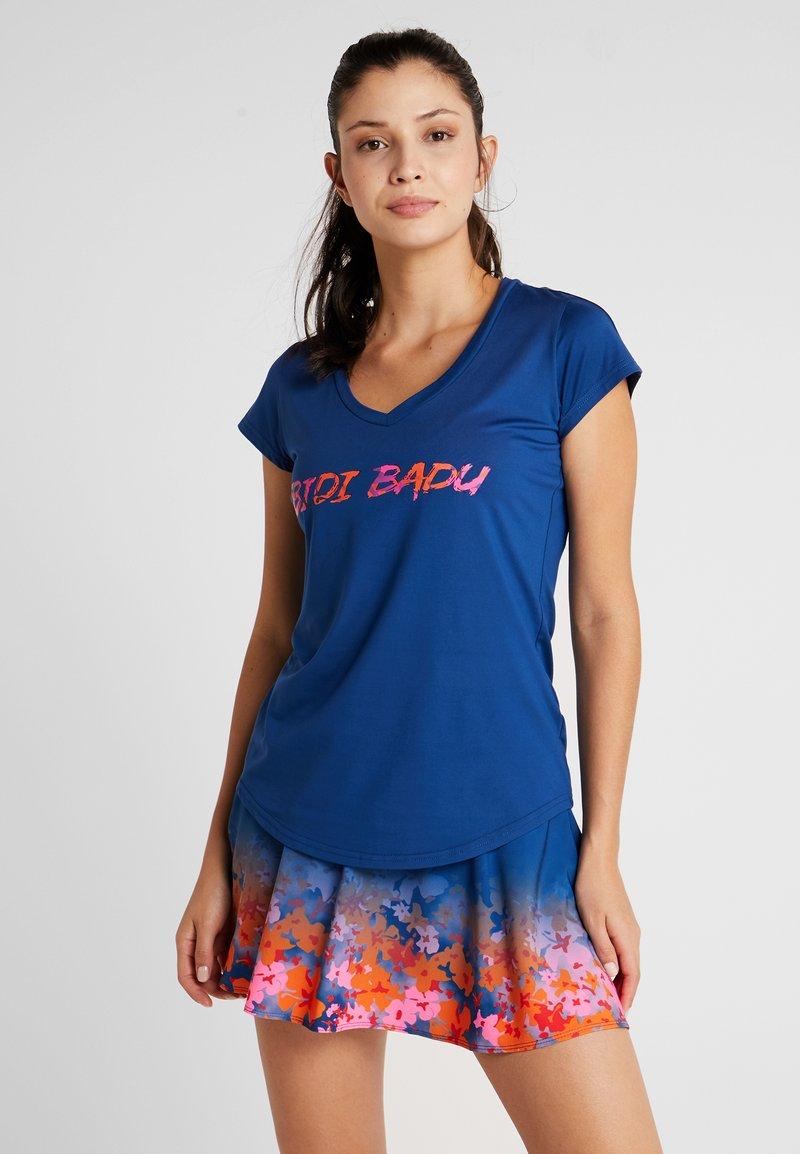 BIDI BADU - LOGO TEE - T-Shirt print - dark blue