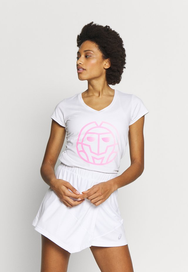 AFENI LIFESTYLE TEE - Funktionsshirt - white