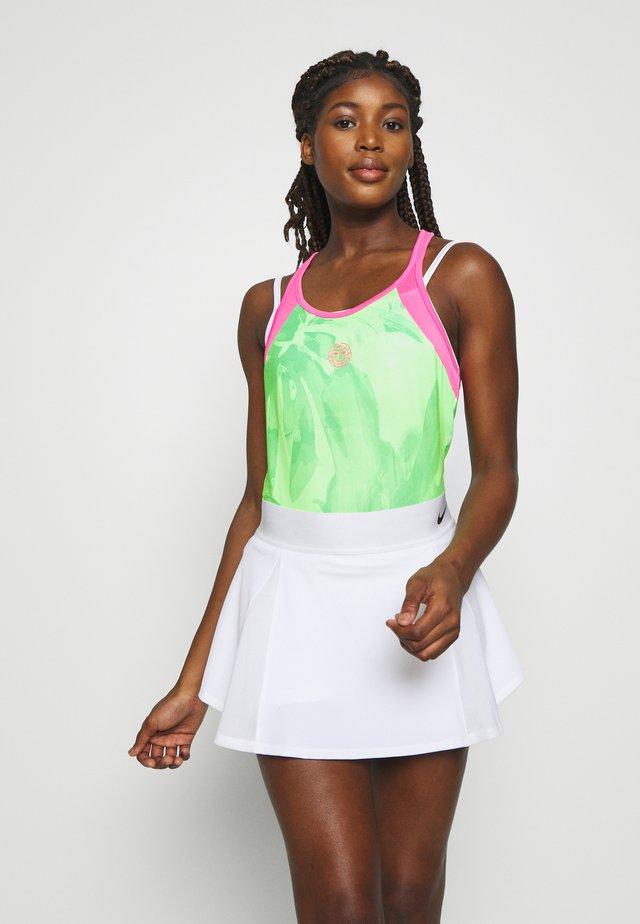 FLEUR TECH TANK - Toppi - neon green/pink