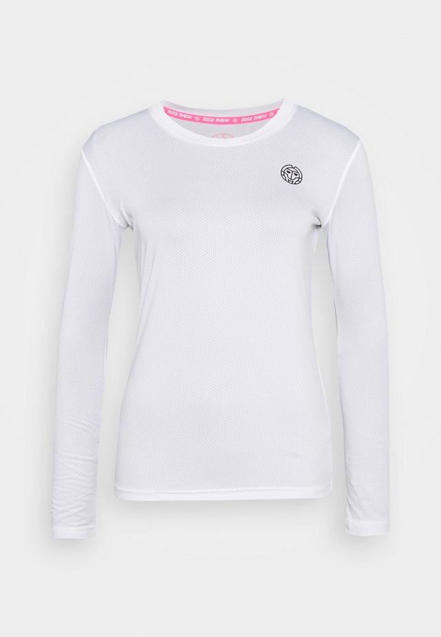 PIA TECH ROUNDNECK LONGSLEEVE - T-shirt de sport - white