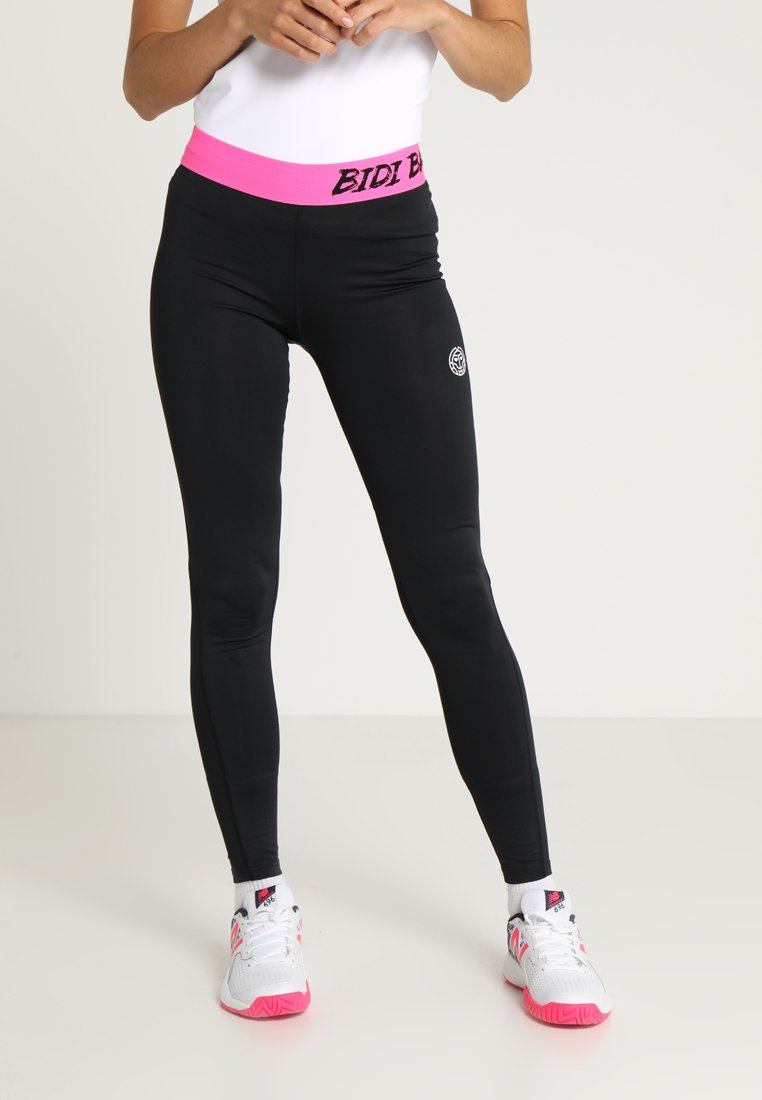 BIDI BADU - JUNO TECH  - Leggings - black/pink