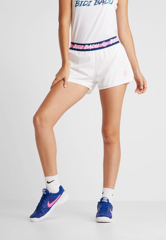 RAVEN TECH  SHORTS 2-IN-1 - Sports shorts - white