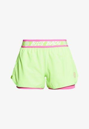 RAVEN TECH SHORTS - Krótkie spodenki sportowe - neon green/pink