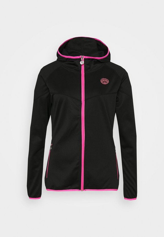 INGA TECH JACKET - Trainingsvest - black/pink