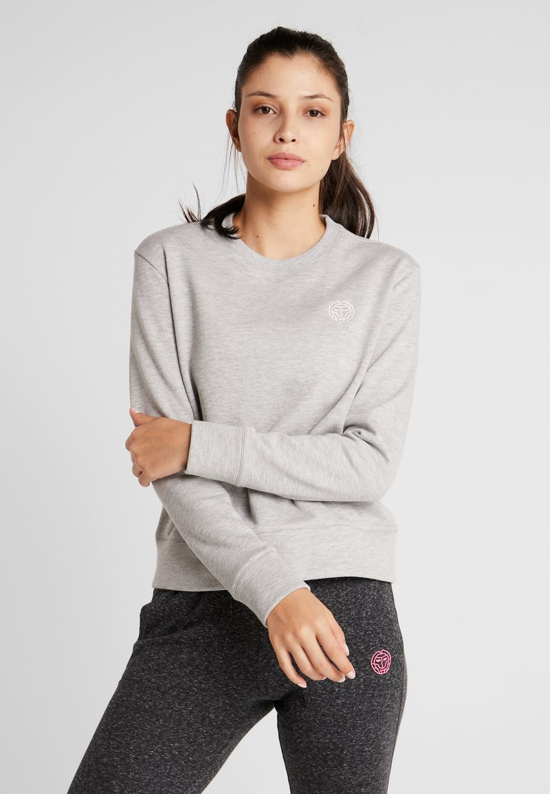 BIDI BADU - MIRELLA BASIC CREW - Sweater - light grey
