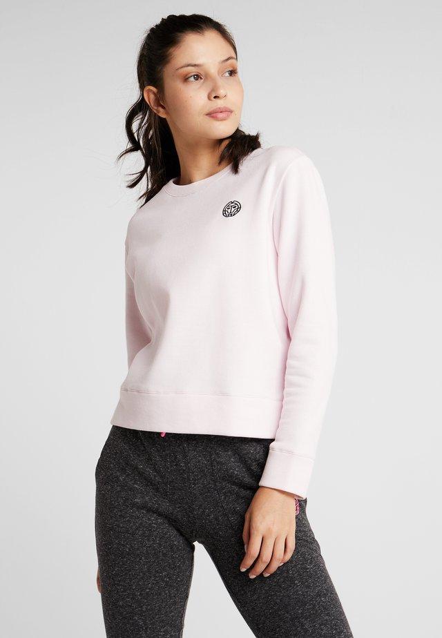MIRELLA BASIC CREW - Sweatshirt - rose