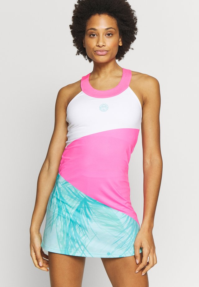 KALI TECH DRESS - Sportklänning - pink/white/mint