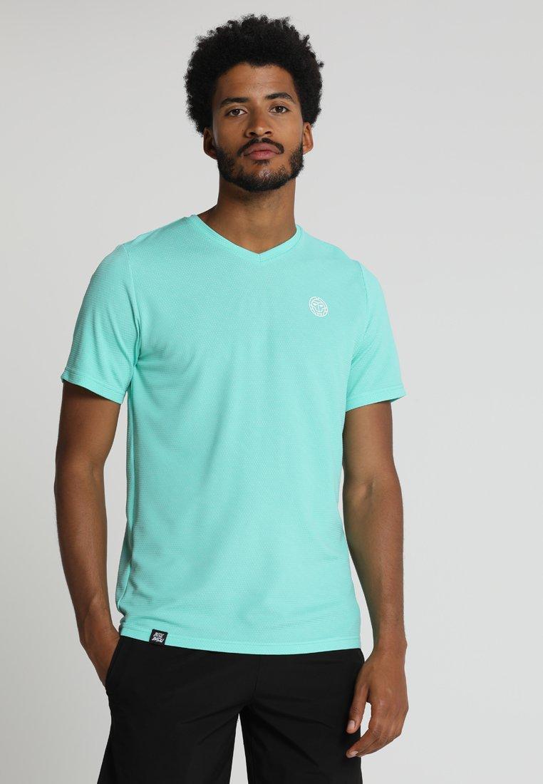 BIDI BADU - FALOU TECH V NECK TEE - T-shirt imprimé - icegreen/white