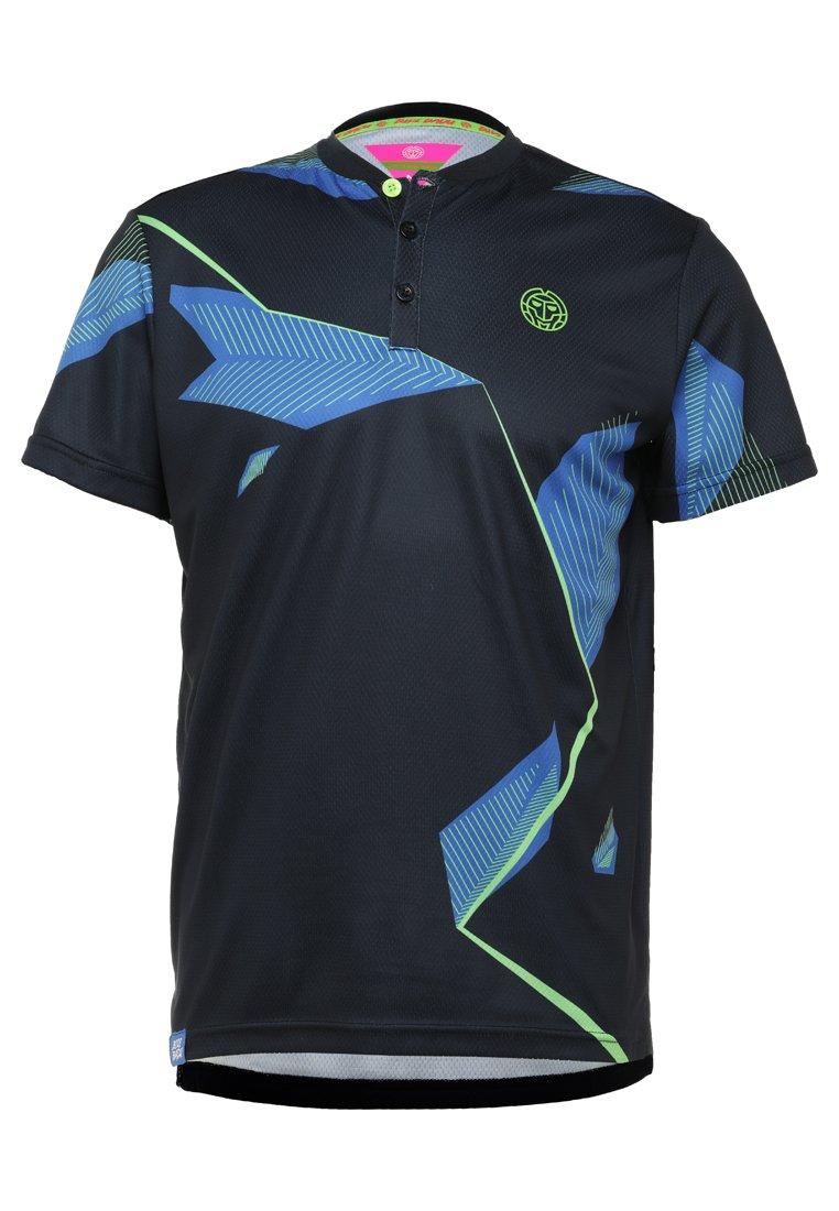 BIDI BADU - NAVIN TECH - T-shirt imprimé - dark blue/blue/neongreen