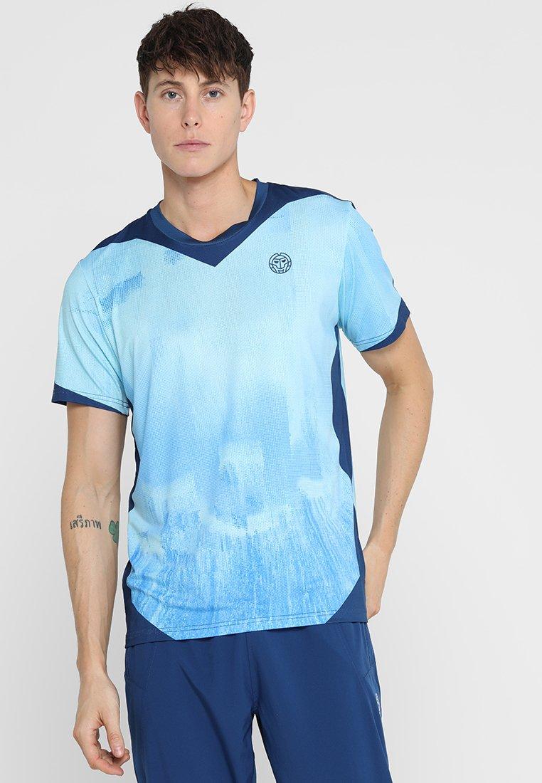 BIDI BADU - MILO TECH TEE - Camiseta estampada - blue/dark blue