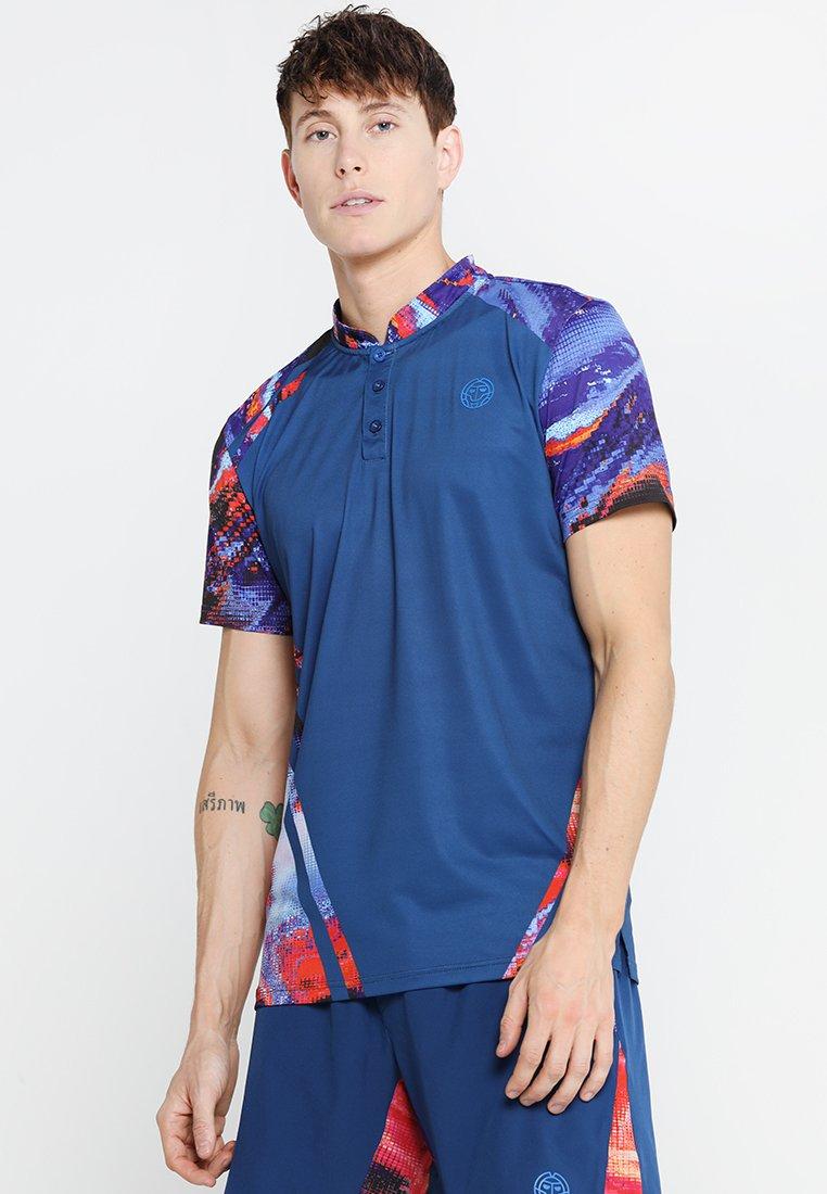BIDI BADU - LUCES TECH - Camiseta estampada - dark blue/red