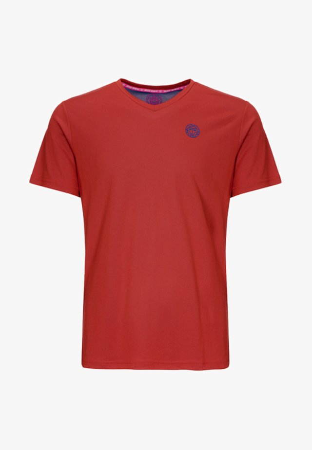 TED TECH TEE - T-shirt med print - red