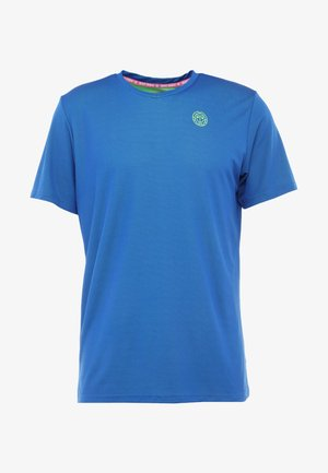 TED TECH TEE - T-shirt imprimé - blue/neon green