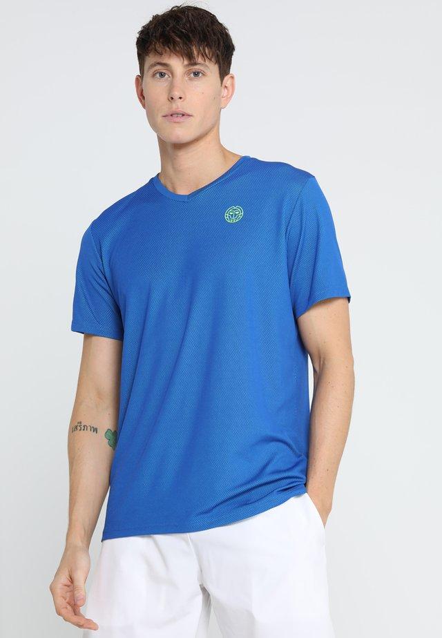 TED TECH TEE - T-shirt print - blue/neon green