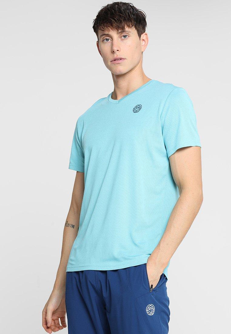 BIDI BADU - TED TECH TEE - Camiseta estampada - light blue/dark blue