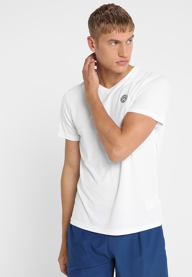 TED TECH TEE - T-shirt - bas - white