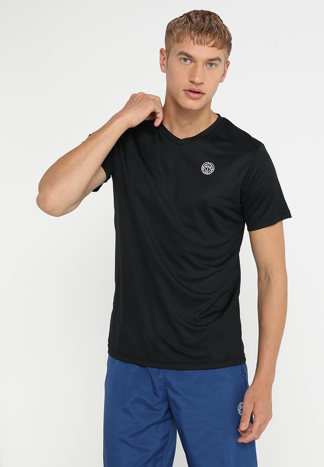 TED TECH TEE - T-shirt - bas - black