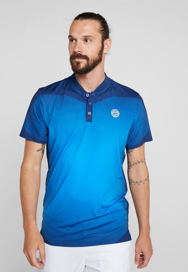 Print T-shirt - dark blue/blue
