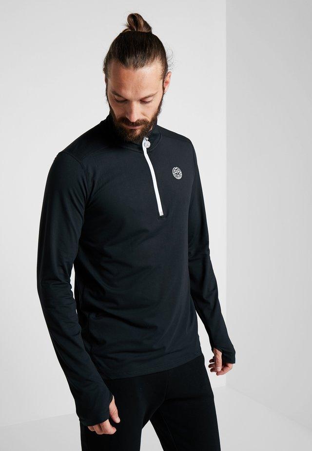 ZAC TECH - Långärmad tröja - black/white