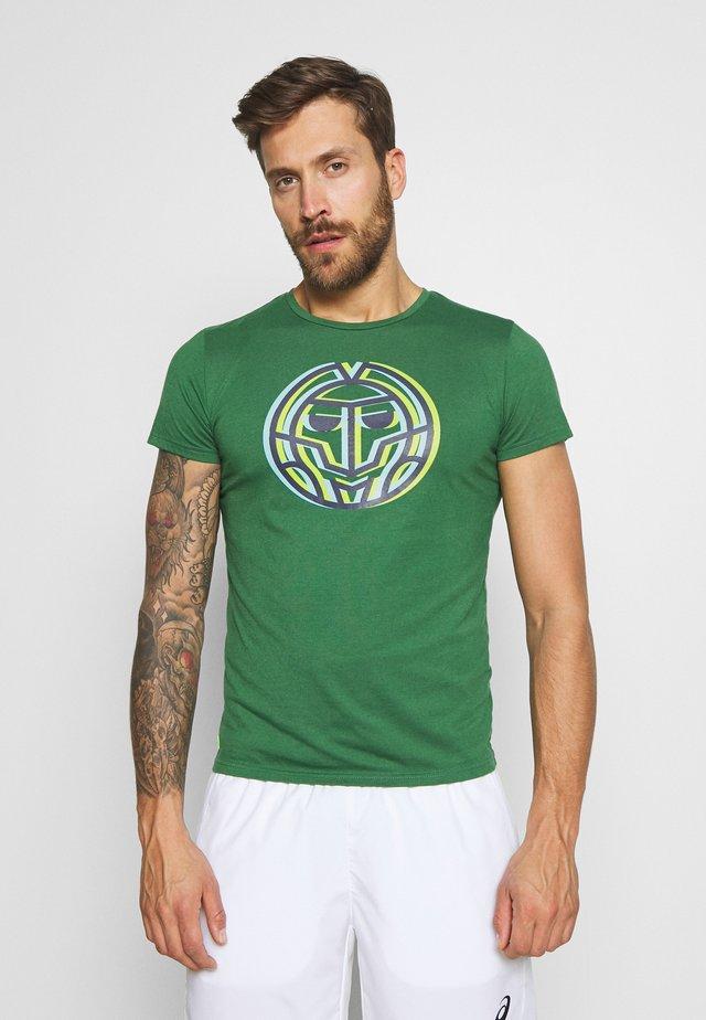 PERO LIFESTYLE TEE - T-shirt print - dark green