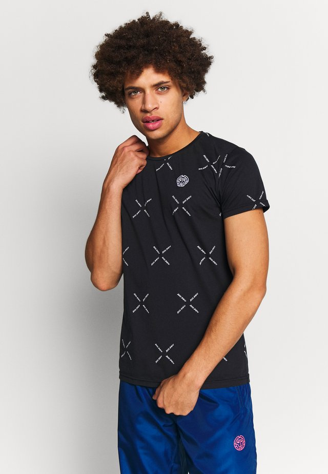 ALEKO BASIC TAPE TEE - T-shirts med print - black
