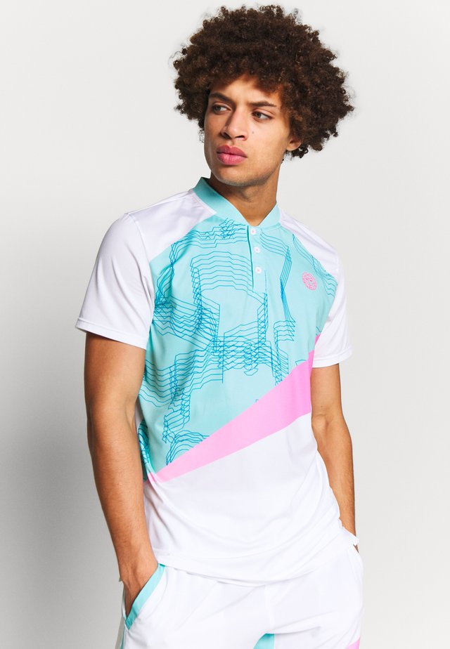 KESAR TECH - Poloshirt - white/mint/pink