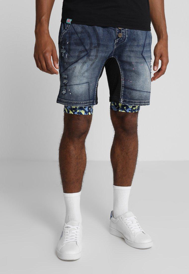 BIDI BADU - LELEX TECH 2IN1 SHORT - Sportovní kraťasy - jeansblue