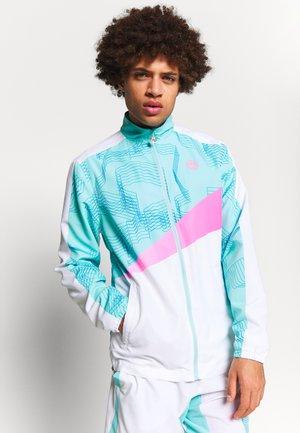 TEKU TECH JACKET - Veste de survêtement - white/mint/pink