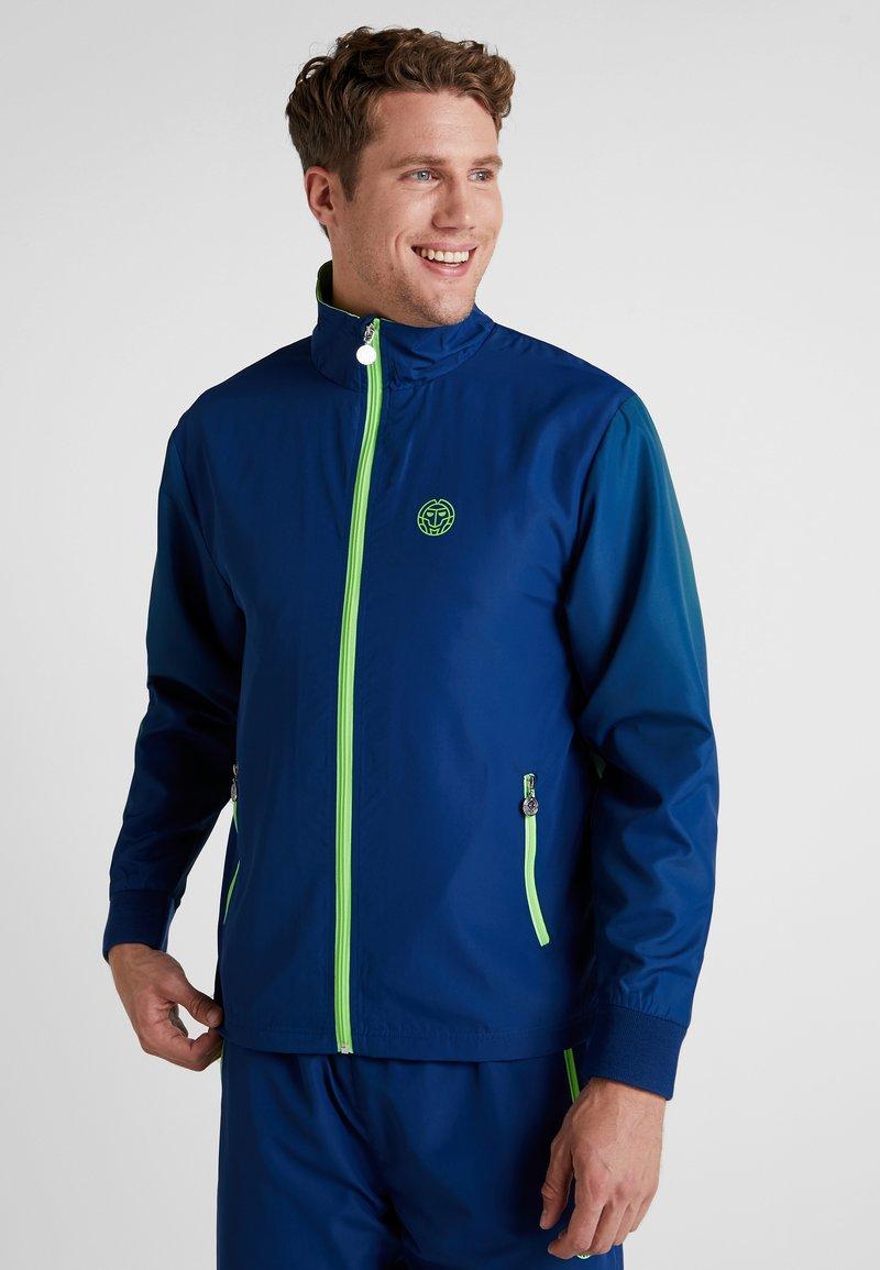 BIDI BADU - JARON TECH TRACKSUIT - Dres - dark blue/neon green