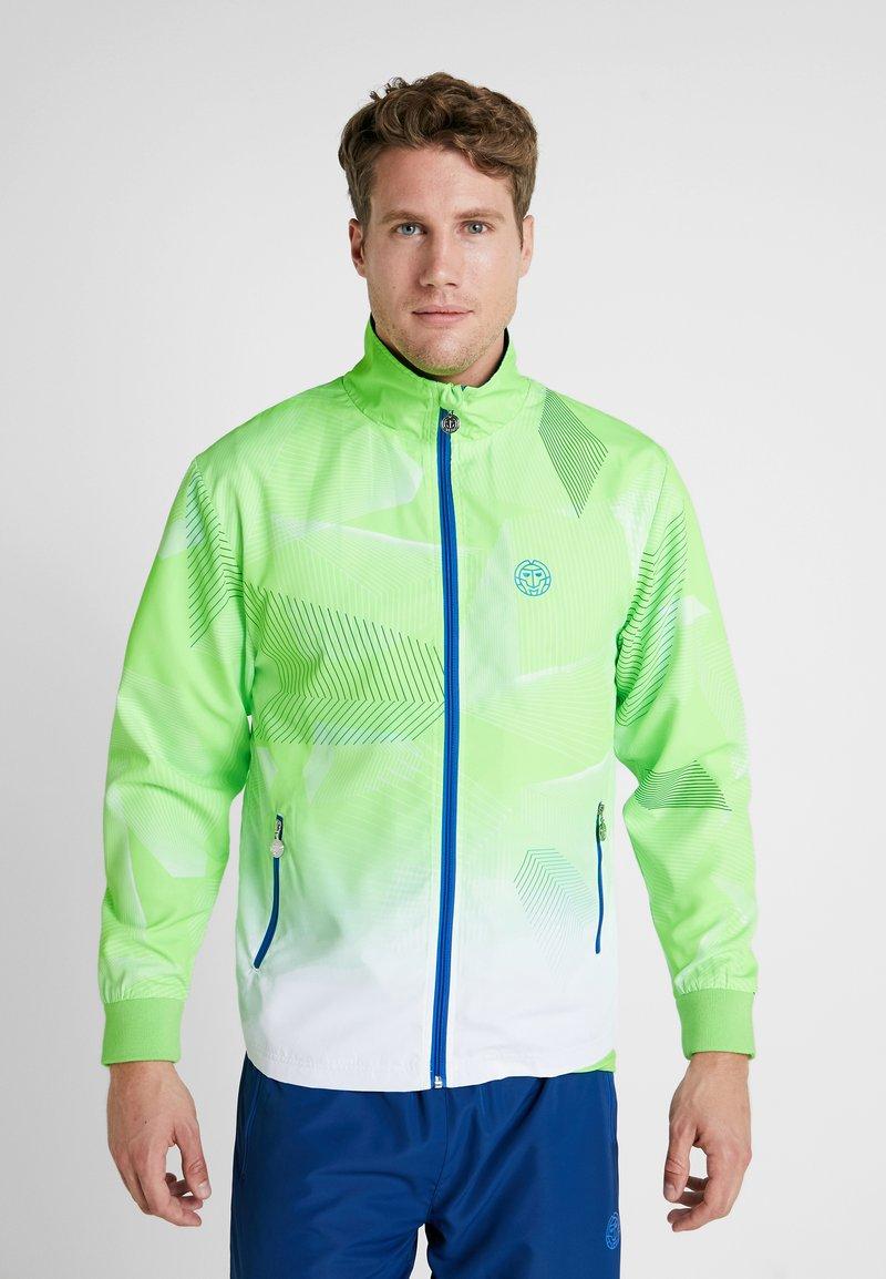 BIDI BADU - JARON TECH TRACKSUIT - Dres - neon green/white/blue