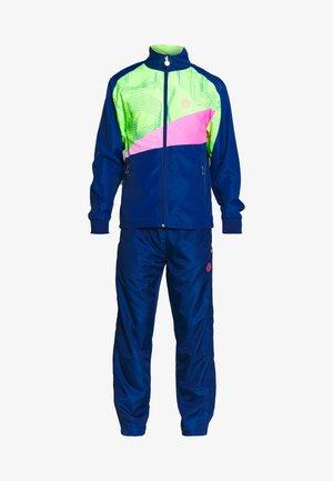 BILLAL TECH TRACKSUIT - Tracksuit - dark blue/neon green/pink