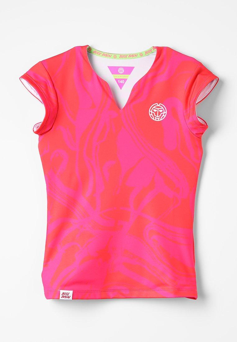 BIDI BADU - BELLE TECH TEE - Camiseta estampada - pink