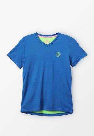 EVIN TECH ROUND NECK TEE - Printtipaita - blue/neon green