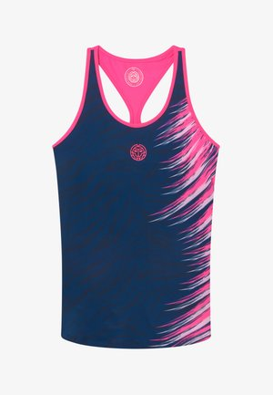CLEO TECH TANK - Toppi - dark blue/pink
