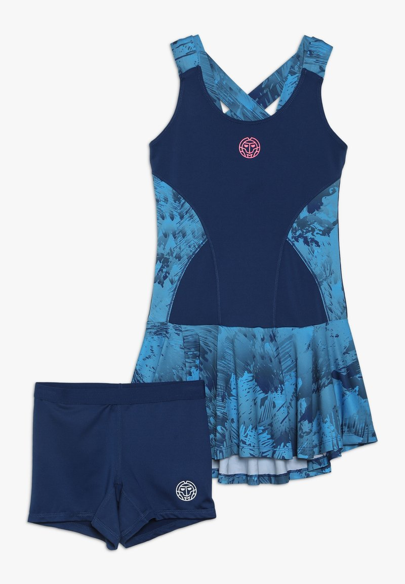 BIDI BADU - PANYA TECH DRESS SET - Urheilumekko - dark blue/turquoise