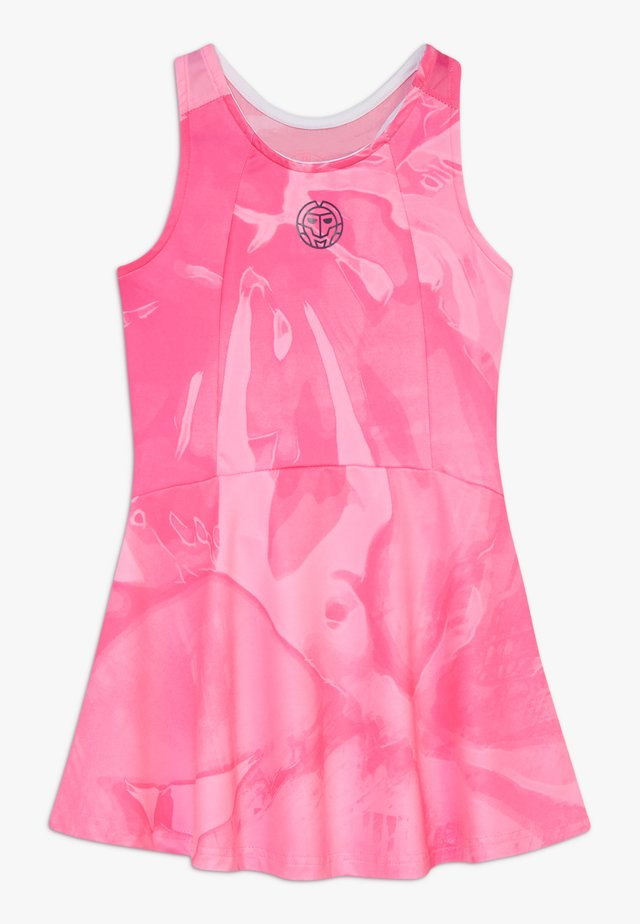 YLVIE TECH DRESS - Sportklänning - pink/dark blue