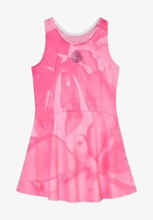 YLVIE TECH DRESS - Sportovní šaty - pink/dark blue