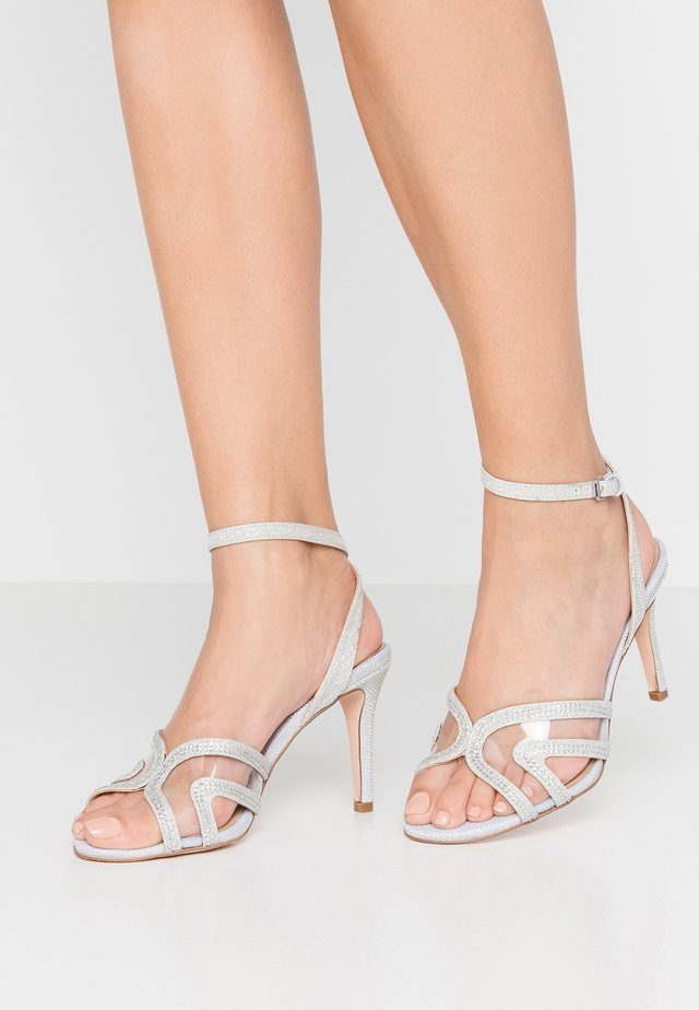 WIDE FIT - High Heel Sandalette - silver
