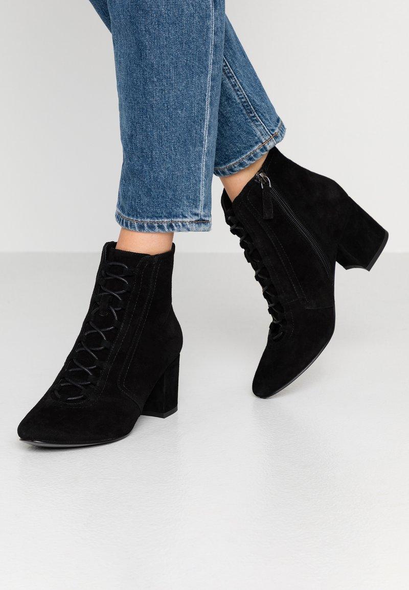 Bibi Lou Wide Fit - Kotníková obuv - black