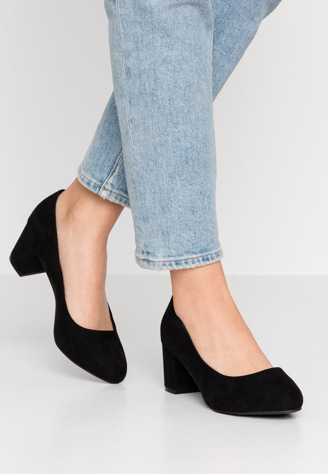 WIDE FIT BIABLANCHE BLOK HEEL - Avokkaat - black