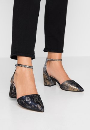WIDE FIT BIADIVIDED - Classic heels - navy blue
