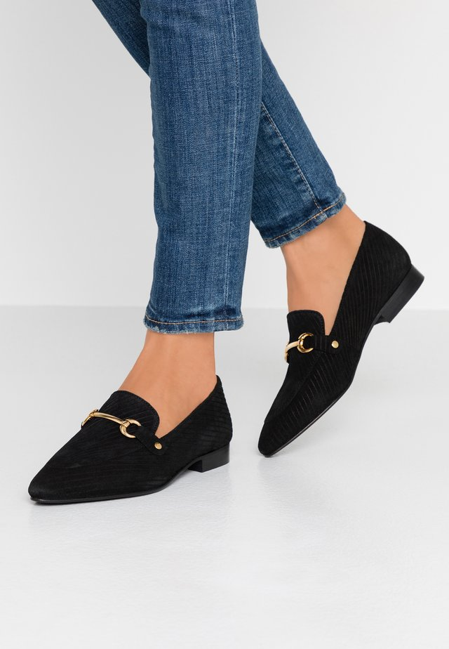 WIDE FIT BIABRENDA LOAFER - Slip-ons - black