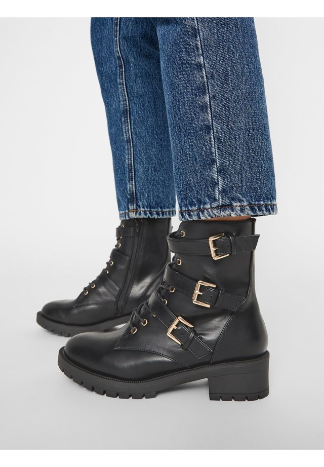 BIACLAIRE  - Cowboy/biker ankle boot - black