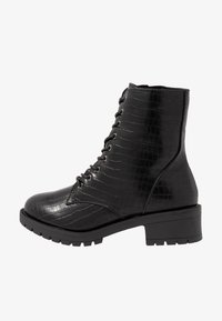 Bianco Wide Fit - WIDE FIT BIACLAIRE CRYSTAL BOOT - Nauhalliset nilkkurit - black - 1