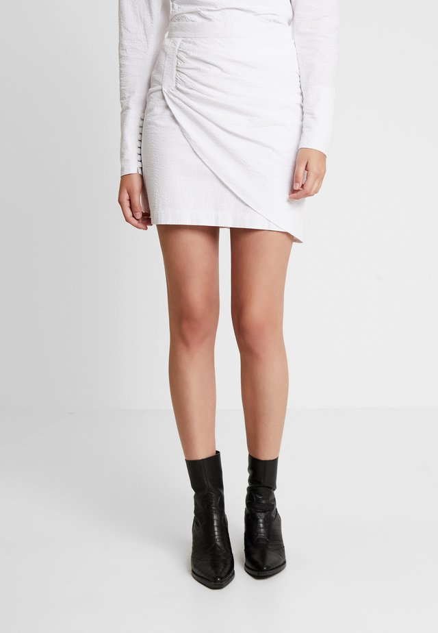 MINA SKIRT - Minirock - white