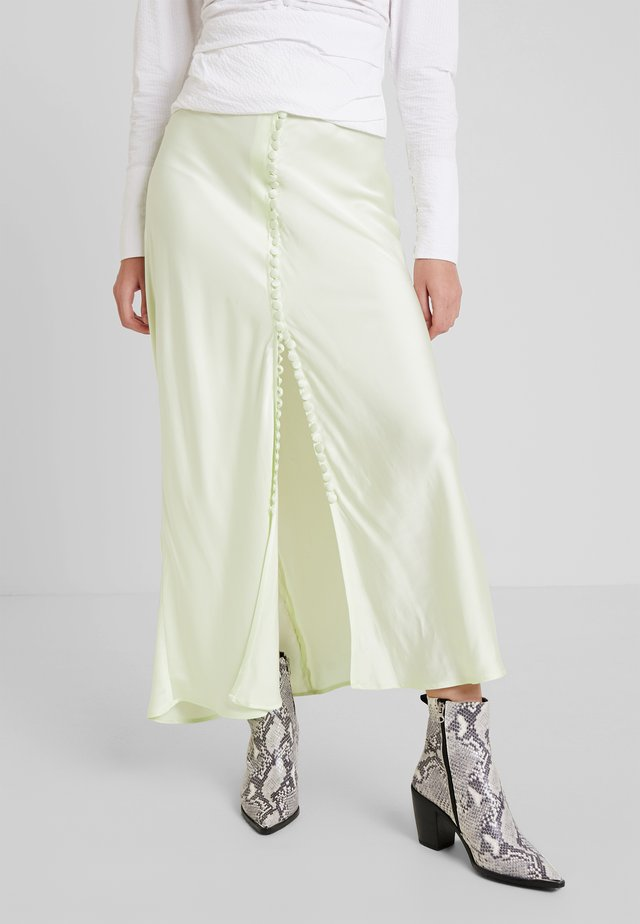 SUPREME LONG SKIRT - Maxi skirt - pastel lime