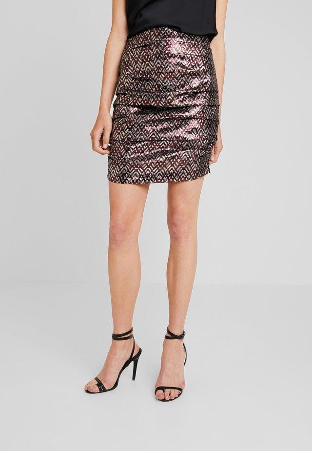 APRIL SKIRT - Veckad kjol - silver