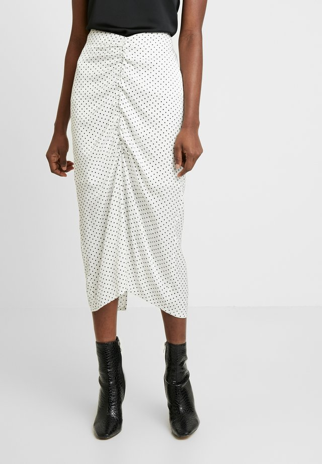 ALEXIS SKIRT - Pencil skirt - white/black