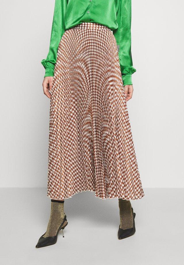 NESSA SKIRT - Długa spódnica - pepita