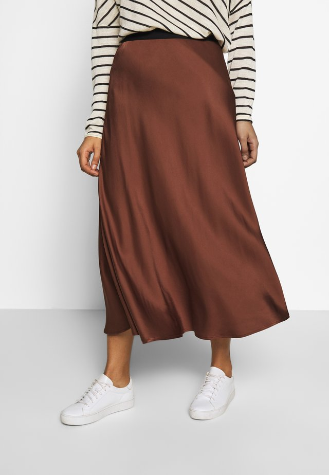 SKIRT - A-line skirt - chest nut